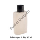 Dikdörtgen 3.tip 45 ml pet şişe