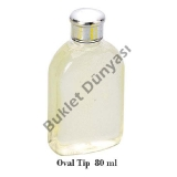 Oval tip pet şişe 80 ml