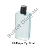 Pvc şişeler Dikdörtgen tip 84 ml